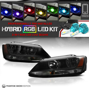 11 18 Volkswagen Jetta Mk6 A6 typ 1b Headlamp Signal remote Color Led Low Beam