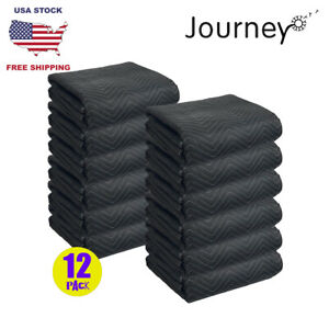 12pcs Moving Blankets 65lb Per Pack Furniture Shipping Pads Heavy Duty Mats