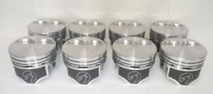 Speed Pro Chrysler Dodge 360 Hypereutectic Flat Top 2vr Pistons Moly Rings Perf