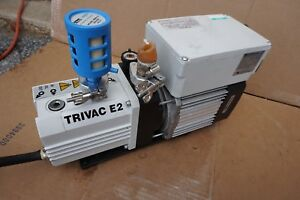 Leybold Trivac E2 D2 5e Dual Stage Rotary Vane Mechanical High Vacuum Pump