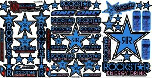 New Decal Sticker For Rockstar Energy 3 Sheet St2 Car Motorcycle Atv Bike Racing