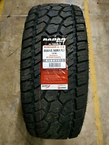 Lt35x12 50r17 Radar Renegade A T5 All Terrain 121r 10ply Set Of 4