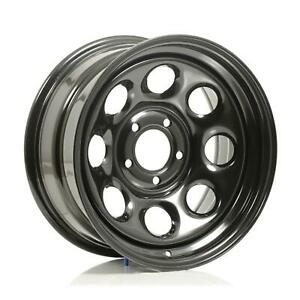 Cragar Soft 8 Black Steel Wheels 17 X8 5x4 5 Bc Set Of 4