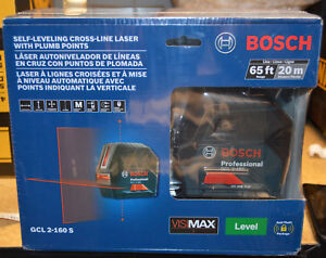 Bosch Self leveling Cross line Laser With Plumb Points Gcl 2 160 S