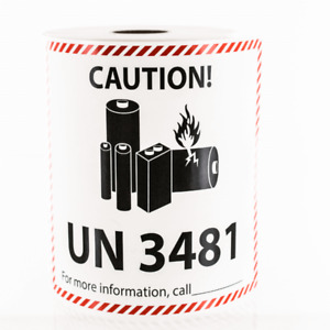 Lithium Ion Battery Shipping Un 3481 Large Sticker Label 2019 Pick Qty Needed