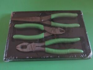 New Snap On Plr300g Green Handle Linemans Plier Diagonal Cutter Needle Nose Set