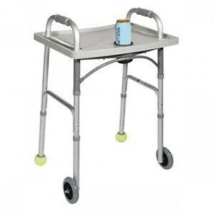 Universal Walker Tray With Cup Holder 1 Count Gray 23 W X 17 D X 1 1 2 H