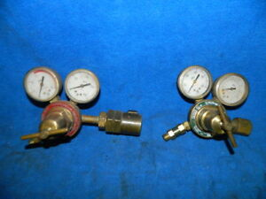 Forney Oxygen Bss 250 And Acetylene Bss 260a Gas Regulators With Gauges