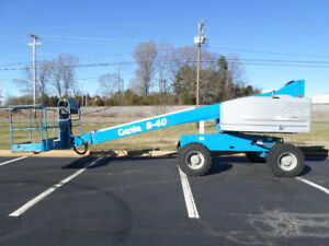 2014 Genie S40 40 Boom Lift 40ft Man Lift Manlift Straight Stick Boomlift