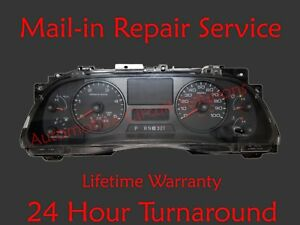 05 08 Ford Superduty Instrument Cluster Speedometer Odometer Repair Service