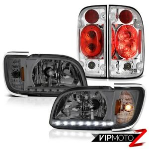01 04 Toyota Tacoma Sr5 Tail Lamps Phantom Smoke Headlamps Bumper Factory Style