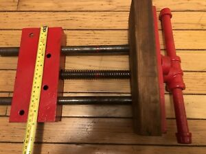 Antique Tool Woodworking Vise Under Bench Mount Same Day Shipping