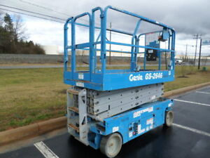 2012 Genie Gs2646 26 Electric Slab Scissor Lift Manlift 26ft Platform Lift