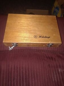 Mitutoyo Depth Micrometer 001 With Wooden Case