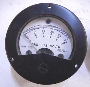 Tv 2 Tube Tester Grid Bias Volts Meter Tv2 Vacuum 1ma Dc General Meters 515a