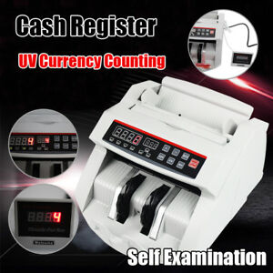 Money Bill Counter Counting Machine Counterfeit Detector Bank Uv Cash Register
