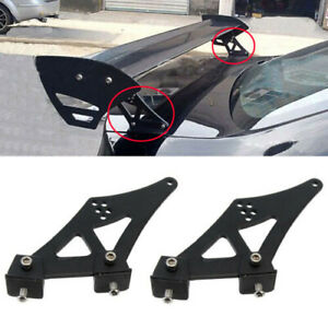 5 Inch Universal Car Auot Rear Wing Tail Spoiler Tripod Adjustable Drilling Tail