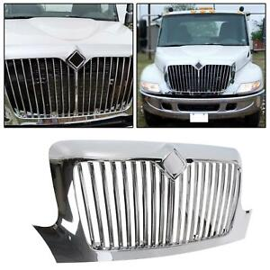 Chrome Front Grille Fit International 4000 Series 2002 4200 4300 4400 8300