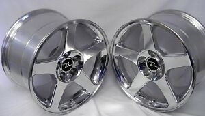 17 Polished 03 Mustang Cobra Style Wheels 17x9 17x10 5 5x114 3 Terminator 94 04