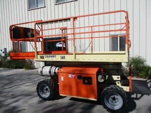 2012 Jlg 260mrt 26 Rough Terrain Scissor Lift Manlift 26ft Platform Lift