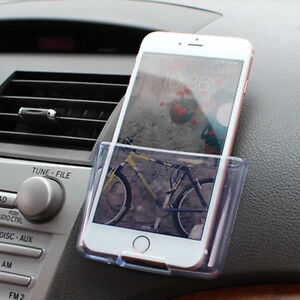 Universal Car Storage Box Dashboard Mount Phone Holder Transparent For Charge