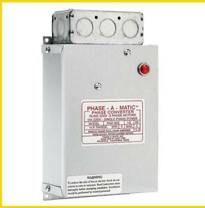 Pam 600 3 5 Hp 220 Vac Phase a matic Phase Converter
