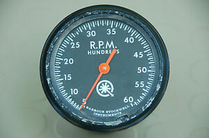 Vintage Go Power Dynamometer Mechanical Tachometer 6000 Rpm
