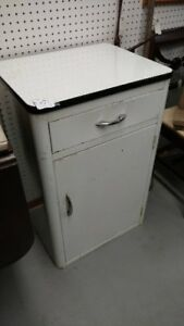 Porcelain Enamel Top Metal Kitchen Or Laundry Cabinet