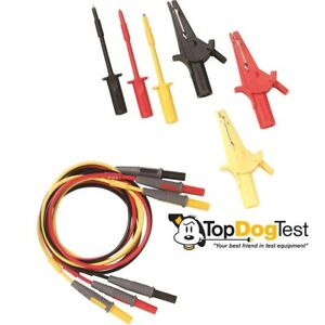 Amprobe Tl prm 6 Replacement Test Lead Set With Alligator Clip For Prm 6 Phase