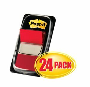 Post It Flags 1 X 1 7 10 Red 50 Flags Per Pad Pack Of 24 Pads