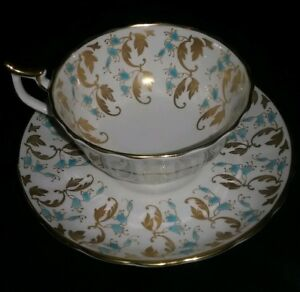 Royal Chelsea Tea Cup And Saucer Gold English Bone China Mint Cond