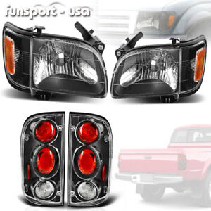 For 2001 2004 Toyota Tacoma Headlights corner signal Bumper Lamp tail Light Set