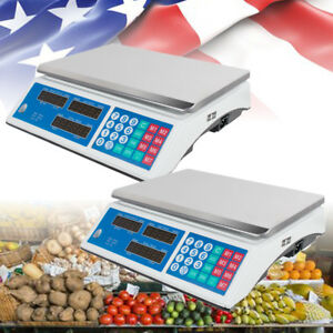 Digital Weight Scale Price Computing Retail Scales Food Meat Vegetable Count Usa