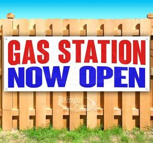Gas Station Now Open Advertising Vinyl Banner Flag Sign Many Sizes