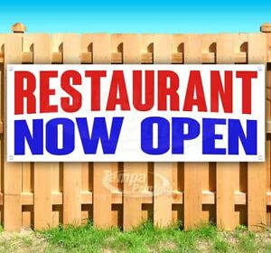 Restaurant Now Open Advertising Vinyl Banner Flag Sign Many Sizes
