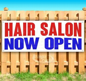 Hair Salon Now Open Advertising Vinyl Banner Flag Sign Many Sizes