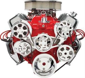 Billet Specialties Pulley Kit Serpentine Alum Polish Chevy Big Block Kit 14220