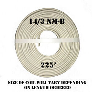 14 3 Nm b X 225 Southwire romex Electrical Cable