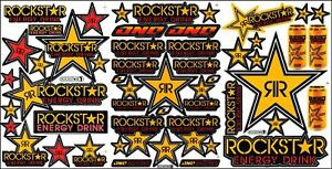 New Decal Sticker For Rockstar Energy 3 Sheet St5 Car Motorcycle Atv Bike Racing