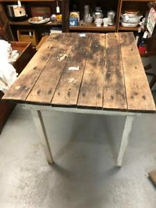 Vintage Primitive Wooden Farm Table