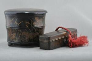 Two Fine Lacquer Boxes Japan 19th Century Meiji Pd