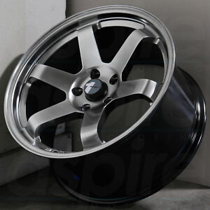 18x8 Hyper Black Wheels Avid1 Av06 Av 06 5x114 3 35 Set Of 4
