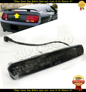 For 2005 2009 Ford Mustang Smoked Lens 3rd Brake Light Led Lamp Tail Plug play