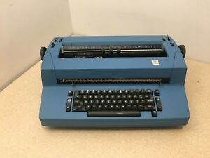 Vintage Ibm Selectric Ii Correcting Typewriter Blue Tested Working W Ribbon