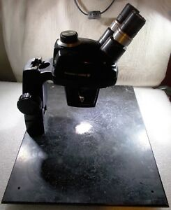 Bausch Lomb Stereo Zoom Microscope 0 7 X 3 X With 10 X Eyepiece Stand Base