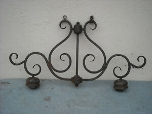 Vintage Gothic Rustic Wrought Iron Style 2 Light Hanging Chandelier Cool Piece