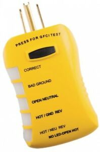 Sperry Stop Shock 2 Gfci Outlet Tester Electrical Testing Equipment Led Display