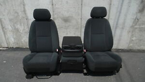 2008 Chevrolet Avalanche 1500 Front Cloth Bucket Seats W Center Jump Seat Oem