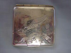Nice Vintage Sterling Silver Sanborns Mexico Cigarette Engraved Card Holder Case