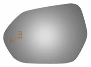 Fits Camry Left Driver Mirror Glass Lens W blindspot Detection Icon